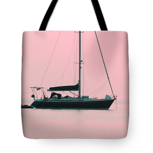 Tote Bag featuring the photograph Pink Mediterranean by Richard Patmore