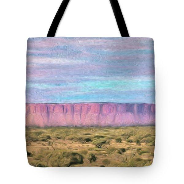 Pink Mesa Tote Bag