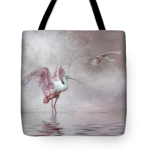 Pink Mist Tote Bag by Brian Tarr