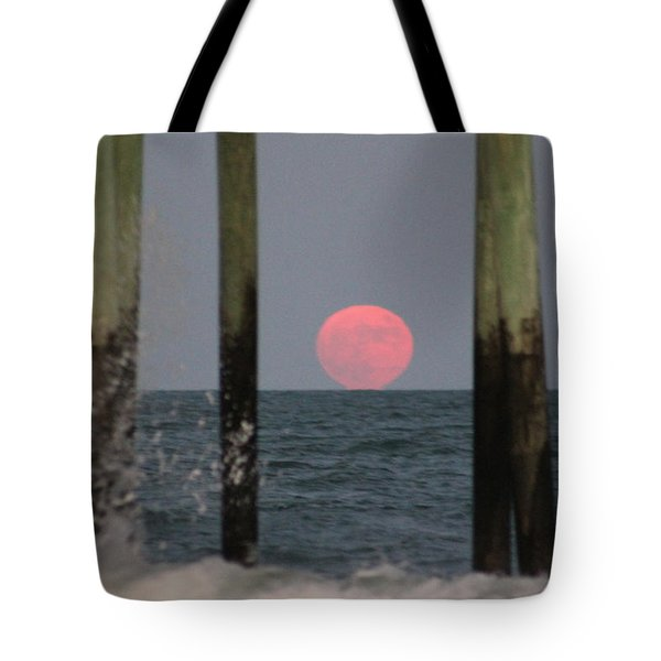 Pink Moon Rising Tote Bag