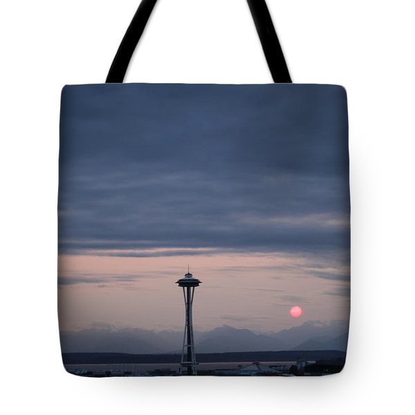Pink Moon Setting Tote Bag