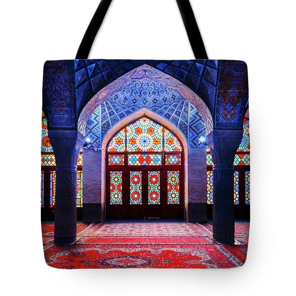 Pink Mosque, Iran Tote Bag