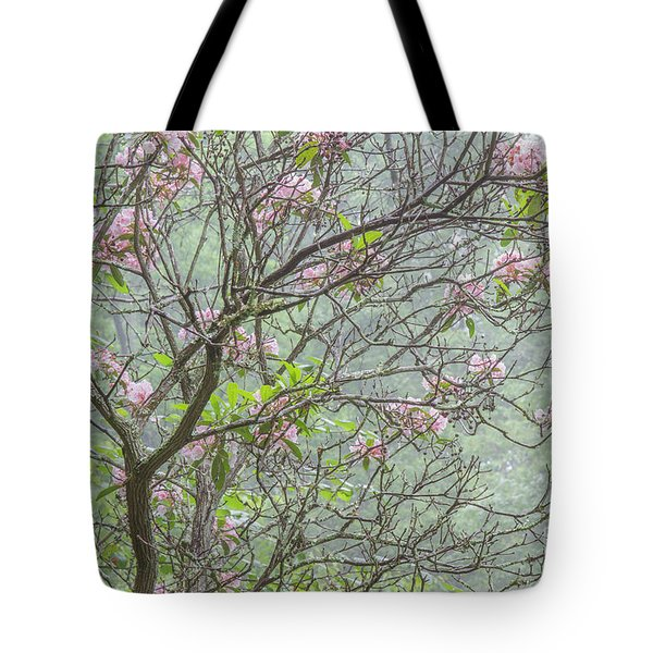 Tote Bag featuring the photograph Pink Mountain Laurel by Chris Scroggins