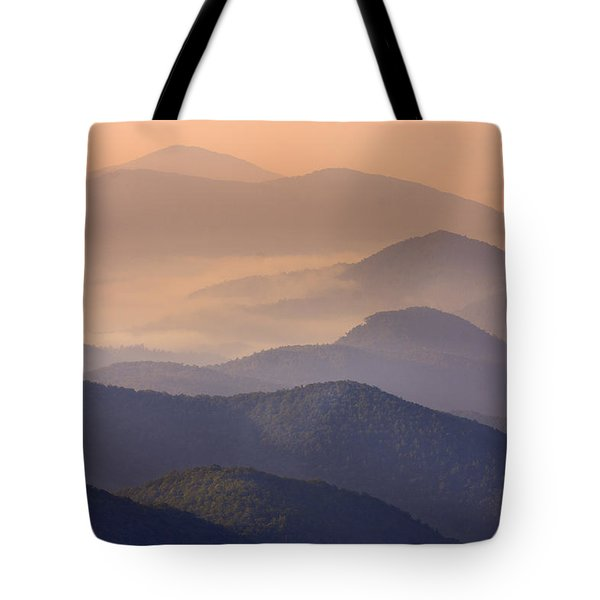 Pink Mountain Layers Tote Bag