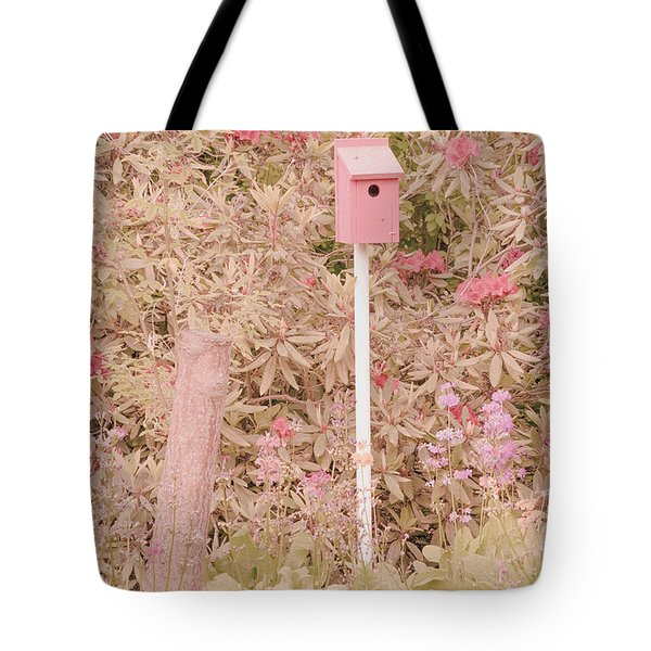 Tote Bag featuring the photograph Pink Nesting Box by Bonnie Bruno