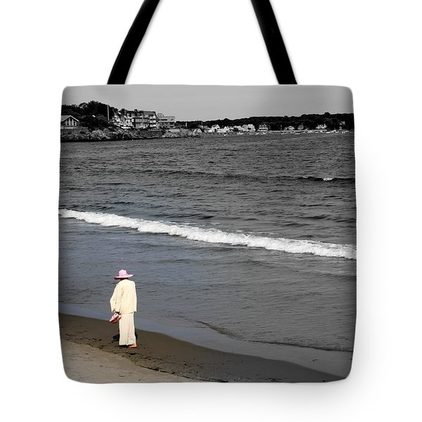 Pink On The  Beach Tote Bag
