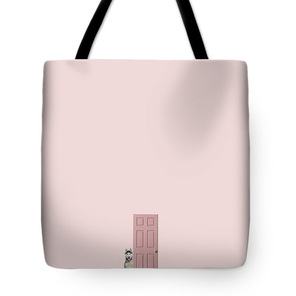 Pink On The Pink Tote Bag by Caterina Theoharidou