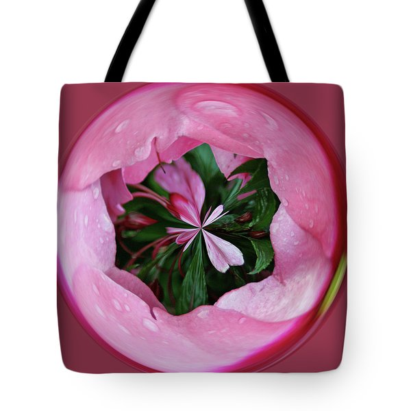 Tote Bag featuring the photograph Pink Orb by Bill Barber