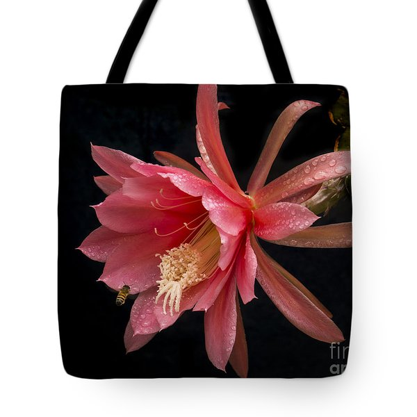 Pink Orchid Cactus Flower Tote Bag