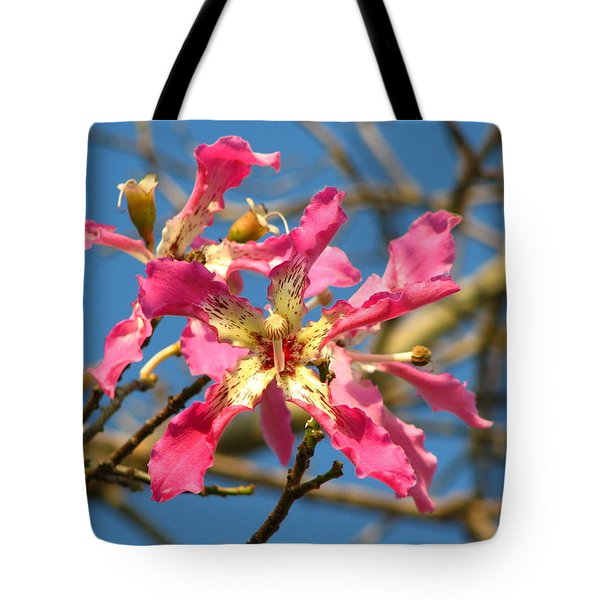 Pink Orchid Tree Tote Bag