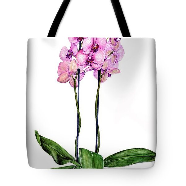 Tote Bag featuring the painting Pink Orchids by Heidi Kriel