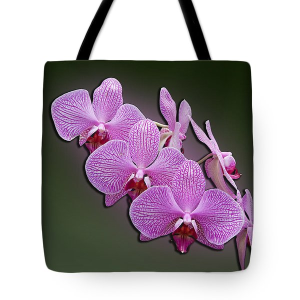 Tote Bag featuring the photograph Pink Orchids by John Haldane
