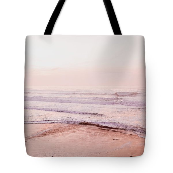 Tote Bag featuring the photograph Pink Pacific Beach by Bonnie Bruno