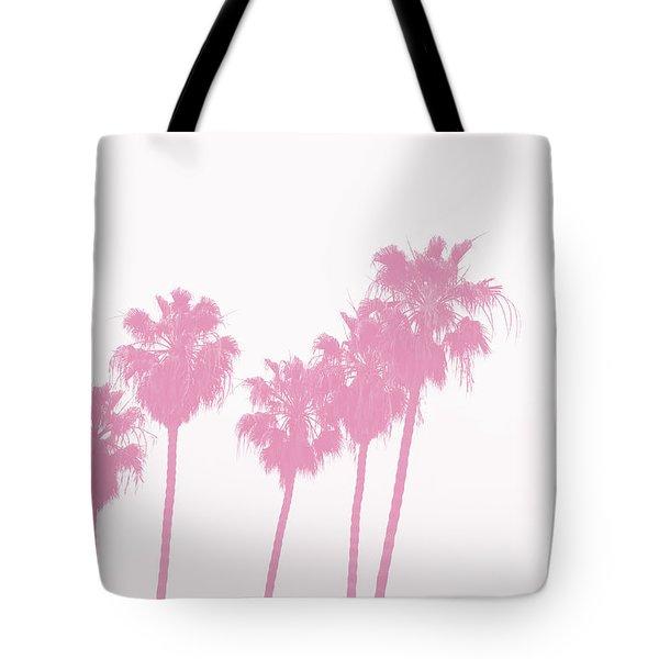 Pink Palm Trees- Art By Linda Woods Tote Bag