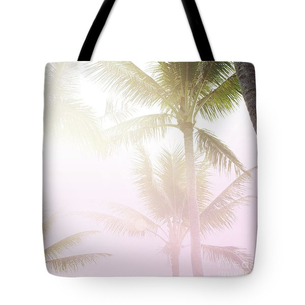 Tote Bag featuring the photograph Pink Palms by Cindy Garber Iverson