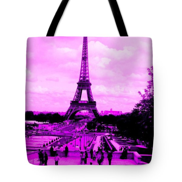 Pink Paris Tote Bag