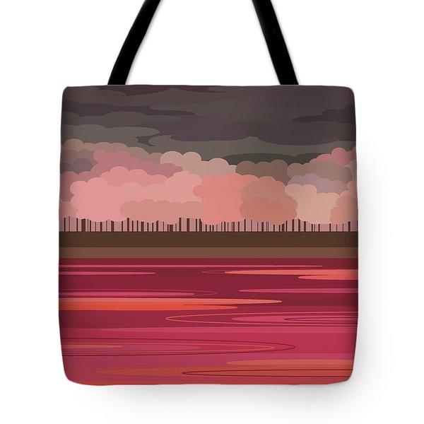 Pink Park Tote Bag