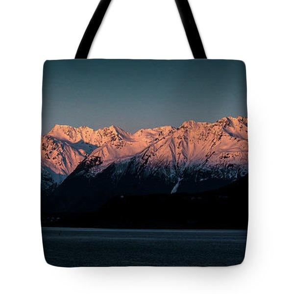 Pink Peaks II Tote Bag