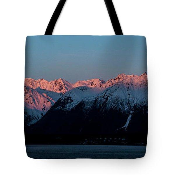 Pink Peaks  Tote Bag