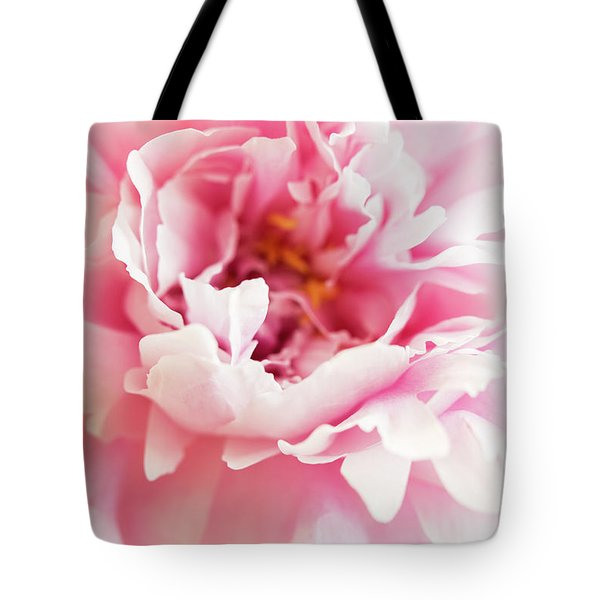 Tote Bag featuring the photograph Pink Peony 2 by Elena Nosyreva