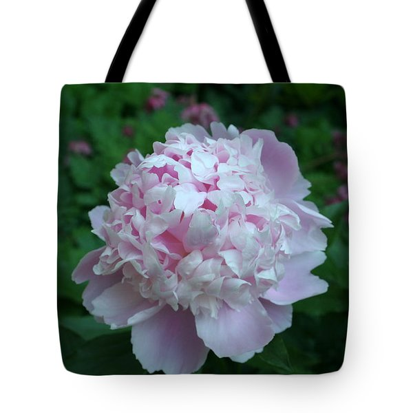 Tote Bag featuring the digital art Pink Peony by Barbara S Nickerson