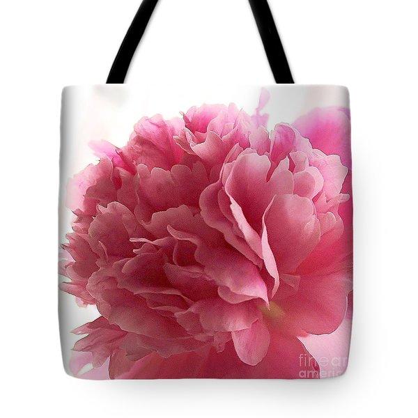 Pink Peony Tote Bag by Katy Mei