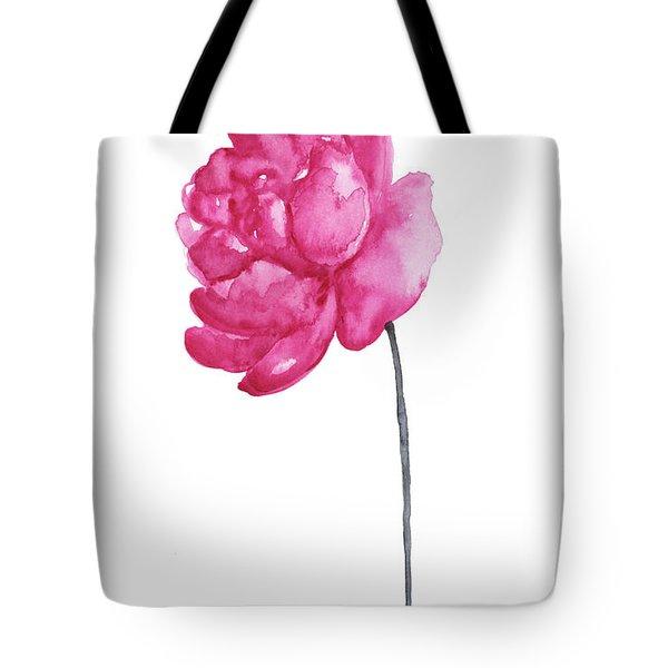 Pink Peony, Nursery Room Print, Baby Girl Kids Room Decoration,  Tote Bag