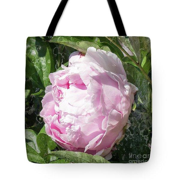 Pink Peony Tote Bag