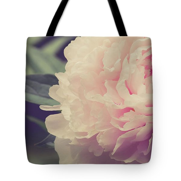Tote Bag featuring the photograph Pink Peony Vintage Style by Edward Fielding