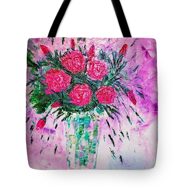 Tote Bag featuring the painting Pink by Piety Dsilva
