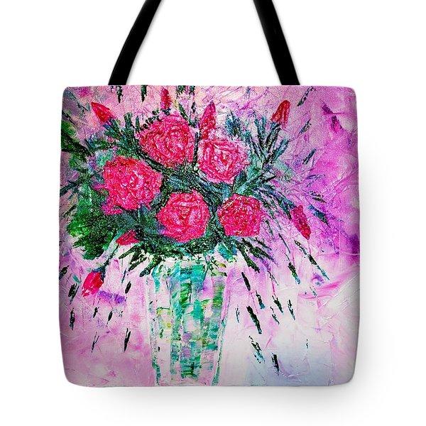 Pink Tote Bag by Piety Dsilva