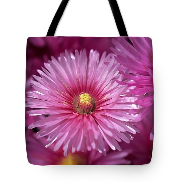 Pink Pigface Flowers Tote Bag