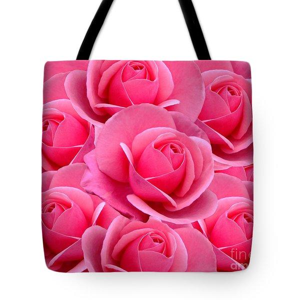 Pink Pink Roses Tote Bag