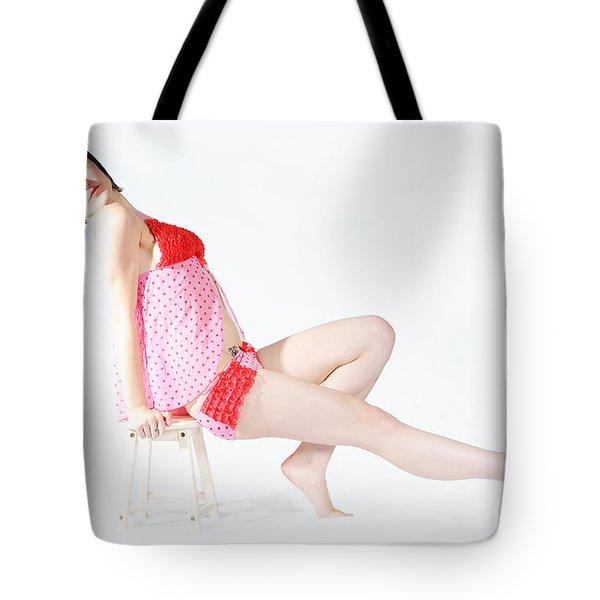Pink Pinup Tote Bag