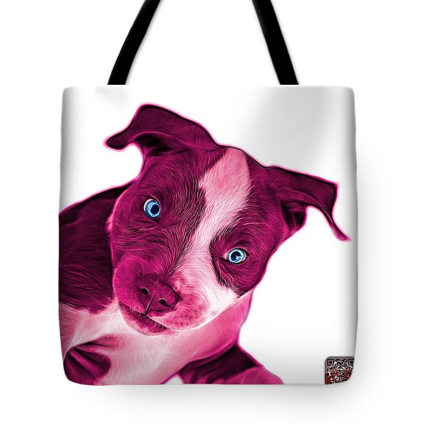 Pink Pitbull Dog Art 7435 - Wb Tote Bag