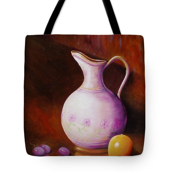 Pink Pitcher Tote Bag