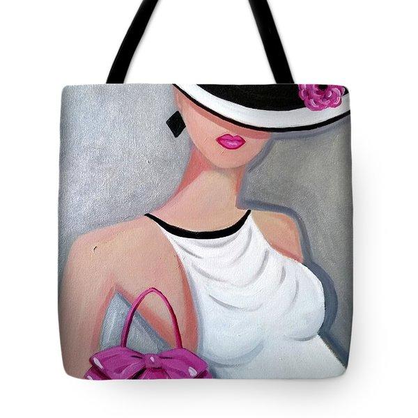 Pink Pocketbook Tote Bag