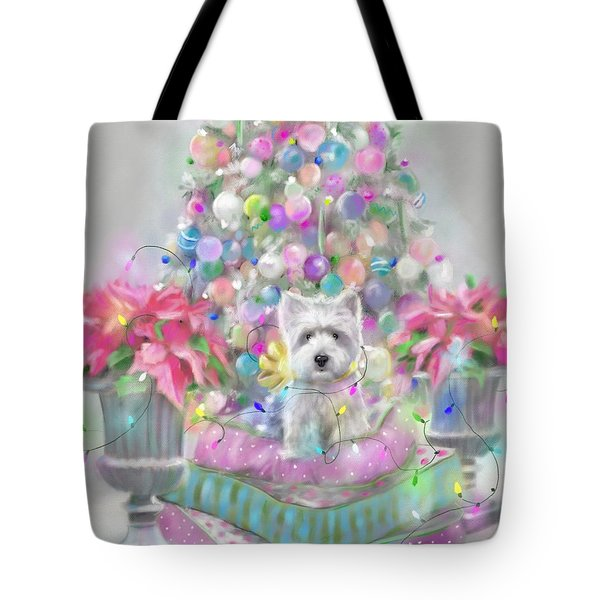 Pink Poinsettias Tote Bag by Mary Sparrow