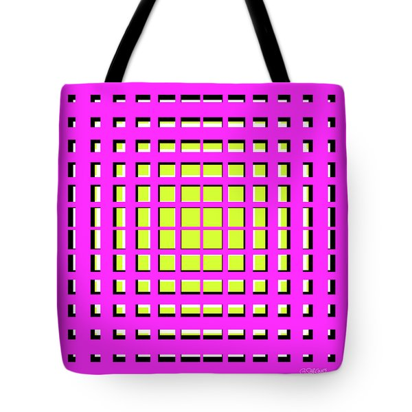 Pink Polynomial Tote Bag