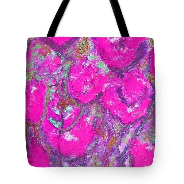 Pink Poppies Tote Bag