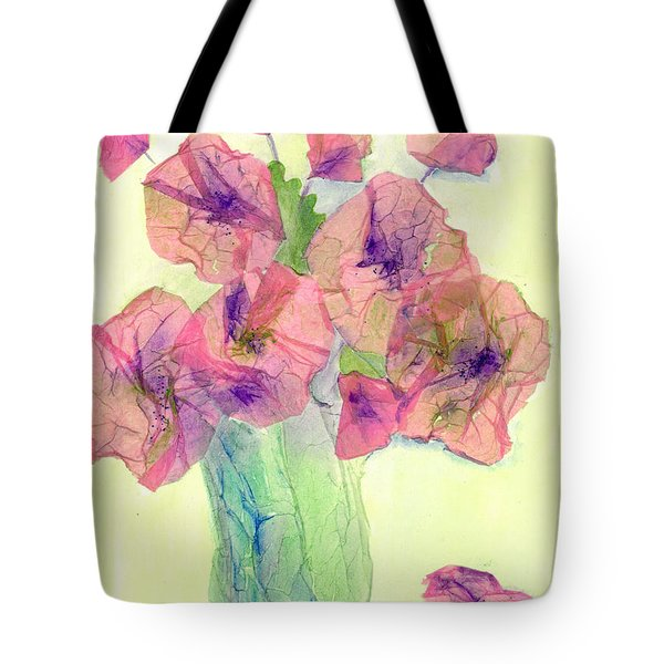 Pink Poppies Tote Bag by Veronica Rickard
