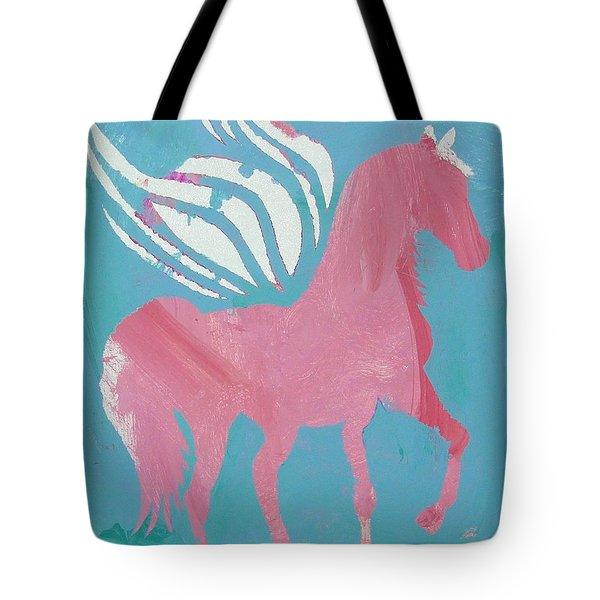Pink Princess Pegasus Tote Bag