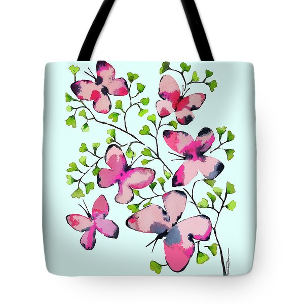 Pink Profusion Butterflies Tote Bag