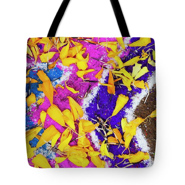 Tote Bag featuring the photograph Pink Purple And Petals by Tim Gainey