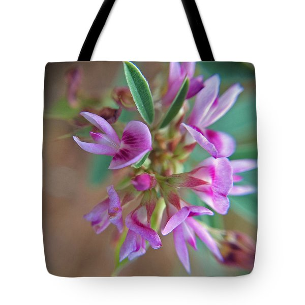 Tote Bag featuring the photograph Pink Purple Texas Wildflower Macro by Robyn Stacey