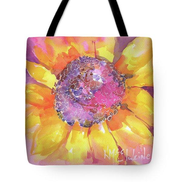 Pink Purple Yellow Sunflower  Tote Bag