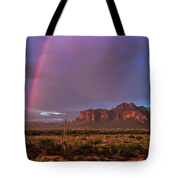 Tote Bag featuring the photograph Pink Rainbow  by Saija Lehtonen