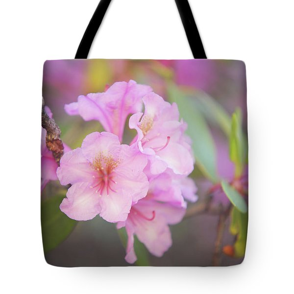 Pink Rhododendron Flowers Tote Bag