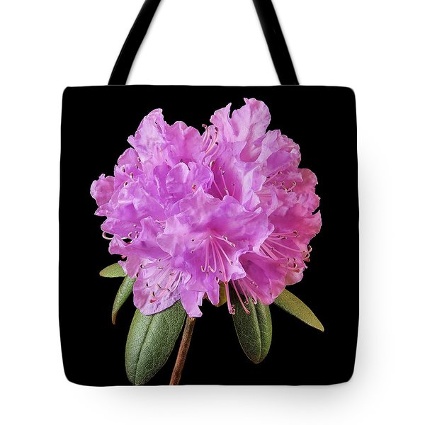 Pink Rhododendron  Tote Bag by Jim Hughes