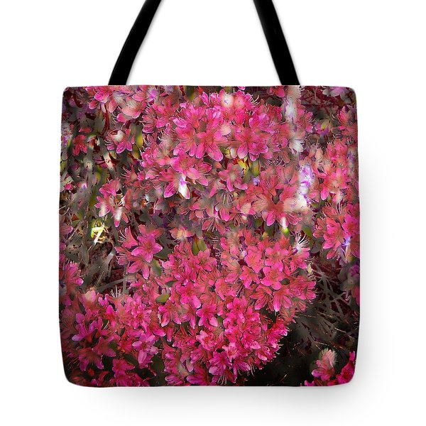 Pink Rhododendron Tote Bag by Thom Zehrfeld